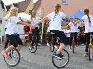 Einradgruppe Lindenfest